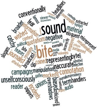 Word cloud for Sound bite