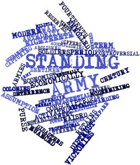 Word cloud for Standing army