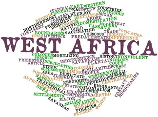 Word cloud for West Africa