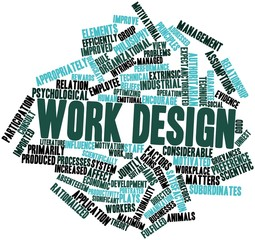 Word cloud for Work design