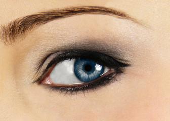 blue eye close up
