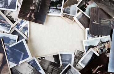 Stack of old photos.