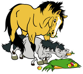 cartoon horse and pony