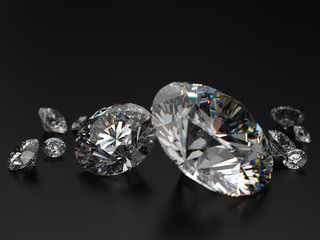Round_diamonds_on_black_background