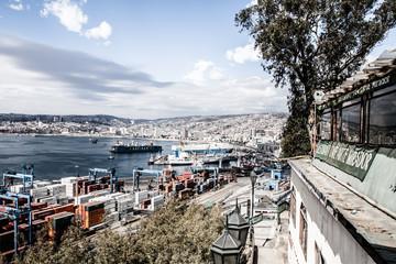 Panoramic view on Valparaiso, Chile, UNESCO World Heritage.