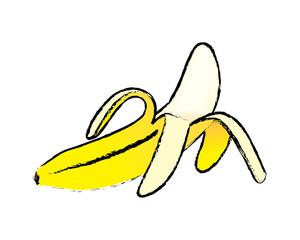 Sketch of open banana