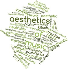 Word cloud for Aesthetics of music