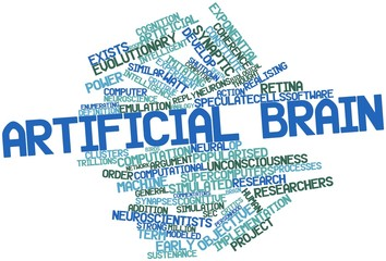 Word cloud for Artificial brain