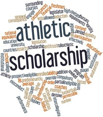 Word cloud for Athletic scholarship