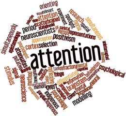 Word cloud for Attention
