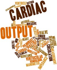 Word cloud for Cardiac output