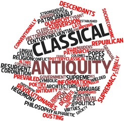 Word cloud for Classical antiquity
