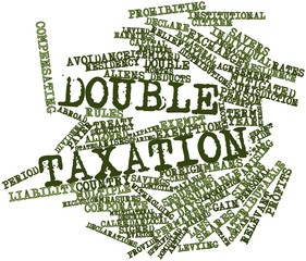 Word cloud for Double taxation