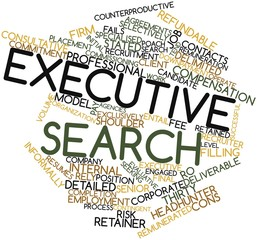 Word cloud for Executive search