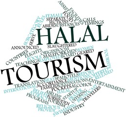 Word cloud for Halal tourism