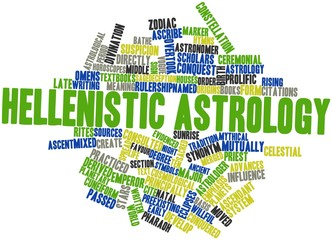 Word cloud for Hellenistic astrology
