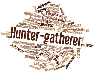 Word cloud for Hunter-gatherer