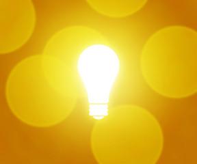 Bulb Yellow Background