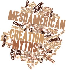Word cloud for Mesoamerican creation myths