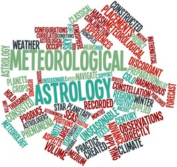 Word cloud for Meteorological astrology