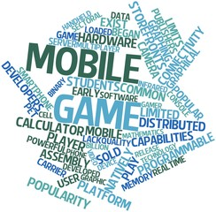 Word cloud for Mobile game