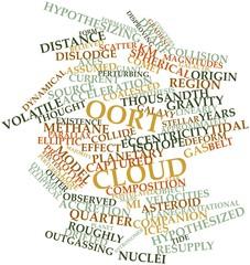 Word cloud for Oort cloud