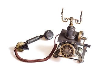 Retro vintage phone isolated