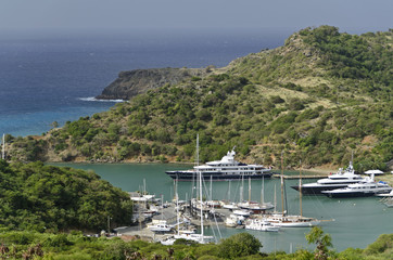 Antigua, English Harbour, Nelson´s Dockyard.