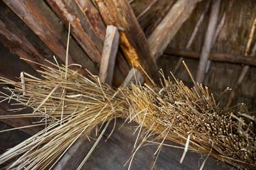 Ferme, poulailler, foin, paille, agricole, Landes, cabane