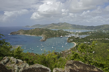 Antigua, English Harbour und Falmouth Bay.