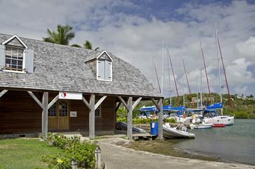 Antigua, Nelson´s Dockyard, Bootsschuppen.