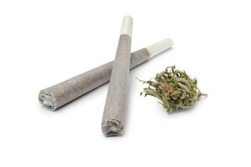 Two reefers with a Marijuana bud