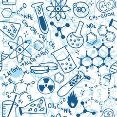 Science seamless pattern
