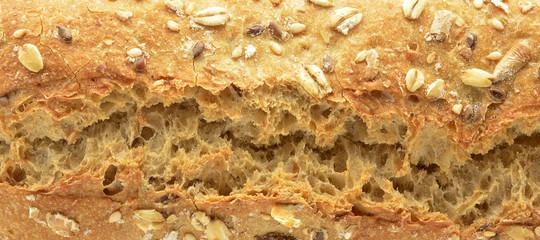 loaf of seeded rye (detail)