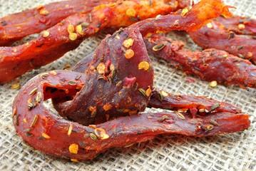 Carne secca piccante - Coppiette