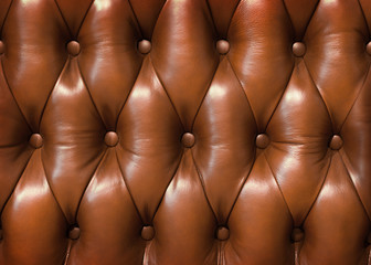 Keuken foto achterwand Leder Closeup texture of vintage brown leather sofa for background