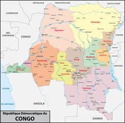 Demokratische Republik Kongo Administrativ
