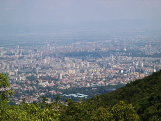 The View of Sofia from Vitosha National Park