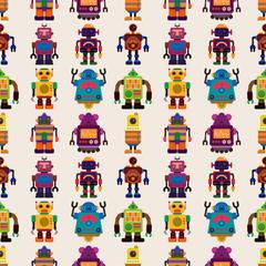 Lamas personalizadas infantiles con tu foto seamless Robot pattern