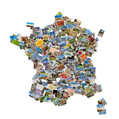 Collage photos forme France