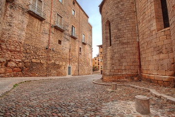 urban scene in Girona. Spain.