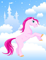 Garden Poster Pony magic pink horse