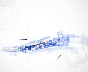 abstract blur wave computer technology business background