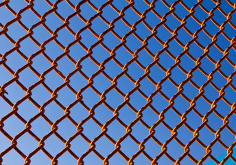 Chain Link Fence Background Pattern