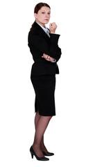 An unfriendly businesswoman