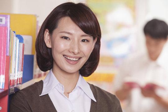 Smiling Chinese teacher