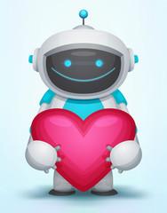 Spoed Foto op Canvas Robots Robot with Heart