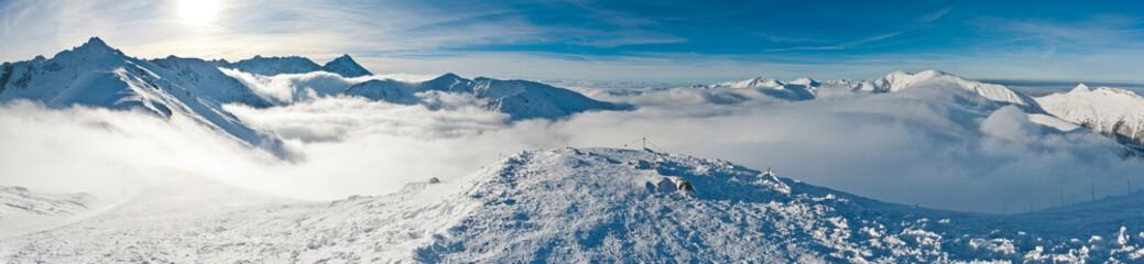 Panorama Tatry zimą