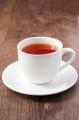 Cup of tea on wood surface