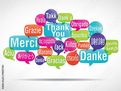 Nuage de mots bulles merci traduction photo libre de for Cerco sito internet